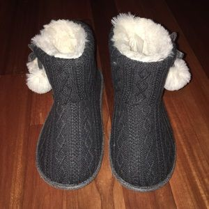 Woven knit booties sz 7-8